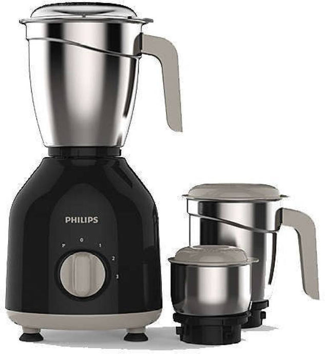 Philips HL 7756 750 W Mixer Grinder  (Black, 3 Jars) - IndiaCliq