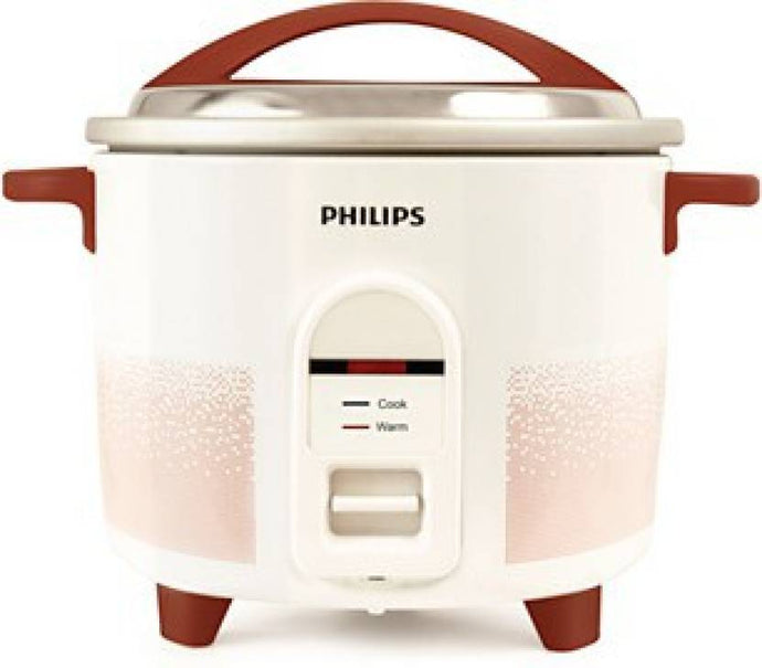 Philips HL1663/00 Electric Rice Cooker  (1.8 L, White & pistil red) - IndiaCliq