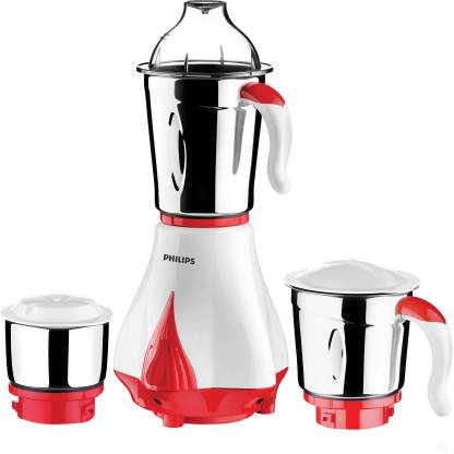 Philips HL7510/00 550 W Mixer Grinder  (Red, White, 3 Jars) - IndiaCliq