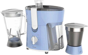 Philips HL7575 600 W Juicer Mixer Grinder  (Celestial Blue & Bright White, 2 Jars) - IndiaCliq