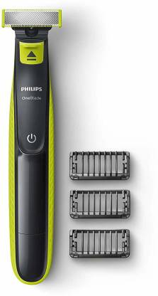 Philips OneBlade QP2525/10 Runtime: 45 min Trimmer for Men  (Black, Green)