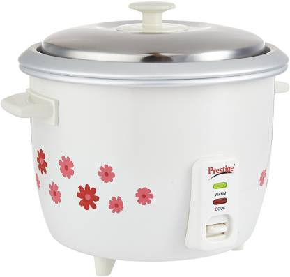 Prestige PRWO 1.8-2 Electric Rice Cooker with Steaming Feature  (1.8 L, Multicolor)