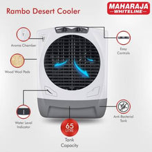 Load image into Gallery viewer, Maharaja Whiteline 65 L Desert Air Cooler  (White, Grey, Rambo Grey / AC-303) - IndiaCliq