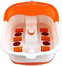 Load image into Gallery viewer, Multifunction Footbath Massager  (White, Orange) - IndiaCliq
