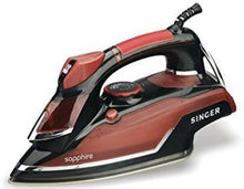Load image into Gallery viewer, Singer Sapphire 1600 W Steam Iron  (Red, Black)