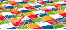 Load image into Gallery viewer, Cotton Double Bed Geometric Bed sheet Snakes & Ladders - IndiaCliq