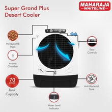 Load image into Gallery viewer, Maharaja Whiteline 70 L Desert Air Cooler  (White, Black, Super Grand Plus) - IndiaCliq
