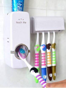 German Chef Toothpaste Dispenser with Toothbrush Holder - IndiaCliq