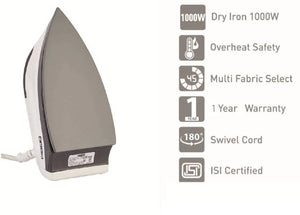 Usha EI 1602 Dry Iron  (White)