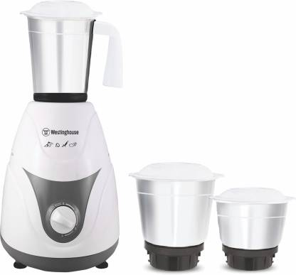 Westinghouse MP60W3A-DS 600 W Mixer Grinder  (Grey, 3 Jars)
