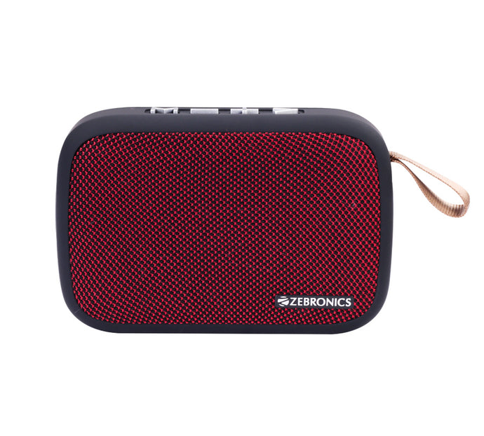 Zebronics Delight Portable Wireless Bluetooth Speaker - Red