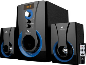 Zebronics 2.1 Multimedia SW2490 RUCF Home Audio Speaker  (Blue, 2.1 Channel)