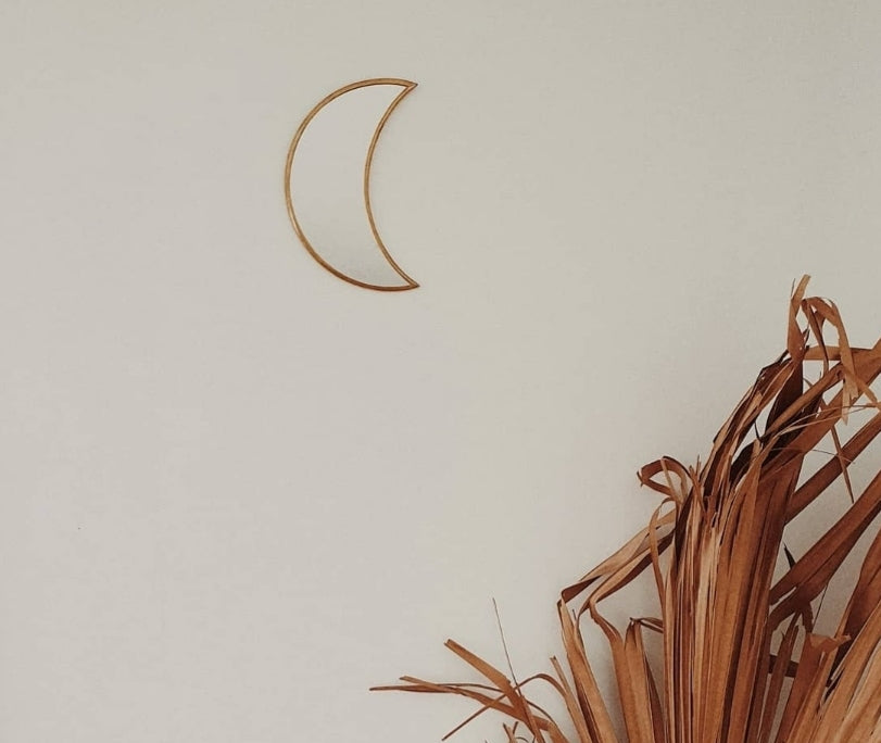 Brass Crescent Moon Mirror
