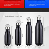 Double-Wall Insulated Vacuum Flask Stainless Steel Water Bottle BPA Free Thermos Sport Water Bottle, 3 Sizes
