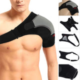 Adjustable Left/Right Shoulder Bandage Protector Brace with Strap for Joint Pain Relief