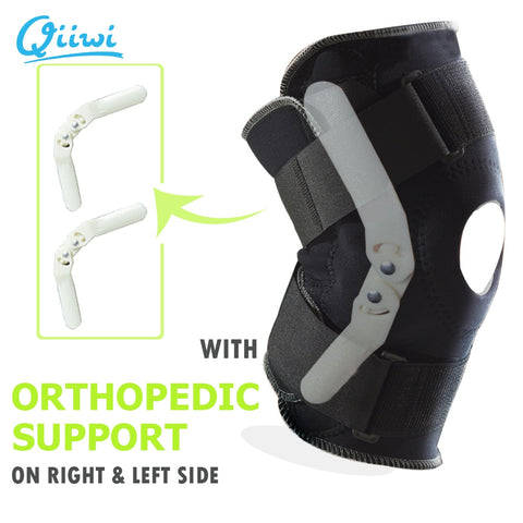 Professional Sports Safety Knee Support Brace Stabilizer with Inner Flexible Hinge