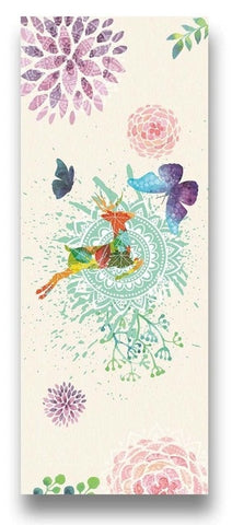 Fitness Yoga Mat with Floral and Flamingo Designs