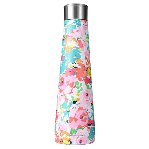 Flower Design Stainless Steel Thermal Insulated Water Bottle