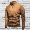 Men's Vintage Suede Bomber Jacket