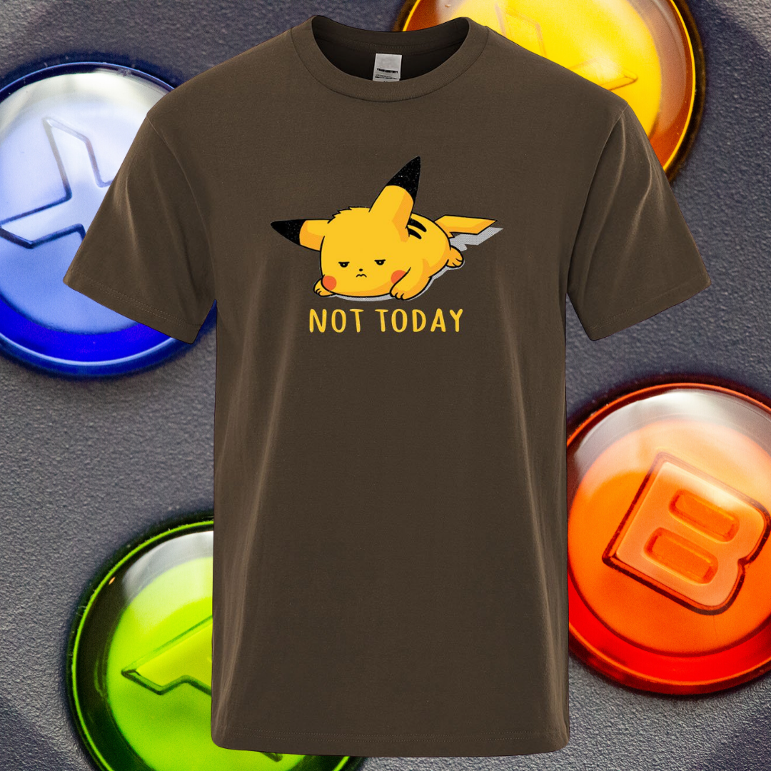 Not Today Lazy Pikachu T-Shirt