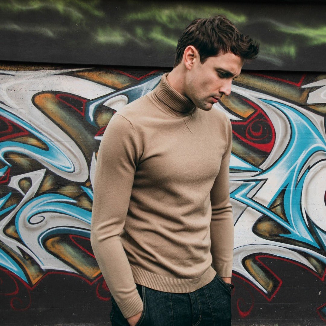 Best Men's Knitted Turtleneck Sweater for men 75k urban fashion