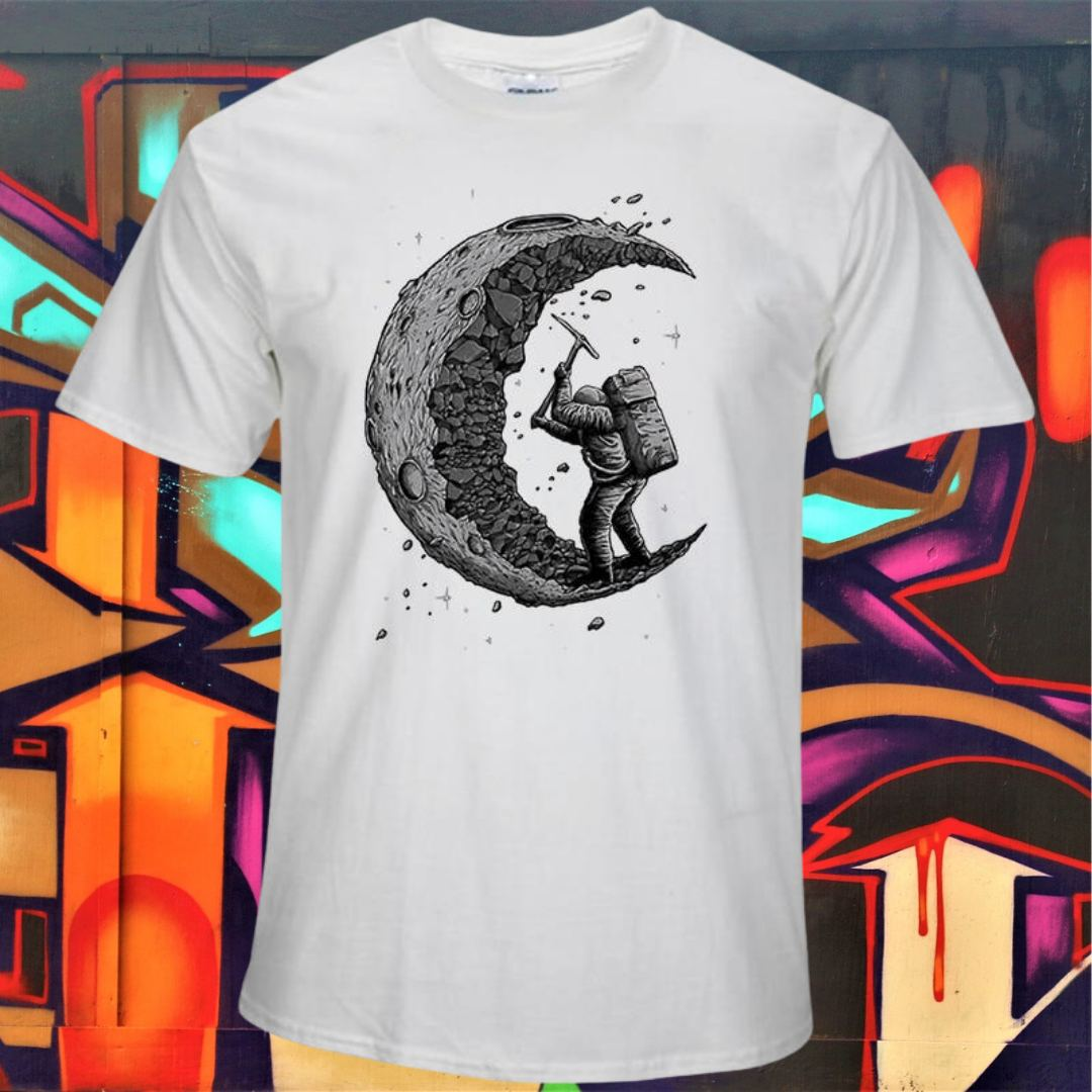 Carve The Moon Design T-shirt for man 75kurban fashion