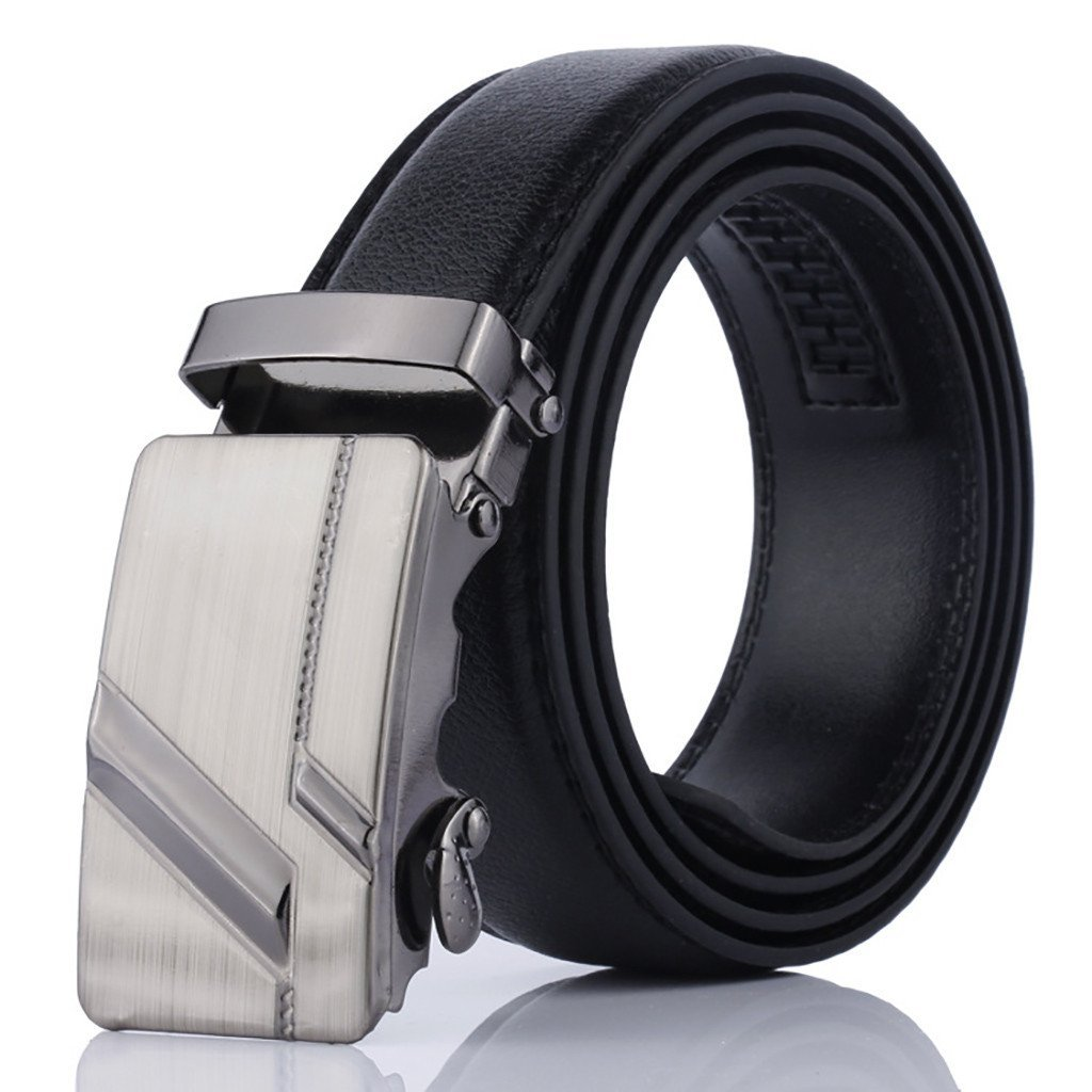 Grip Auto Lock Buckle Leather Belt For Men