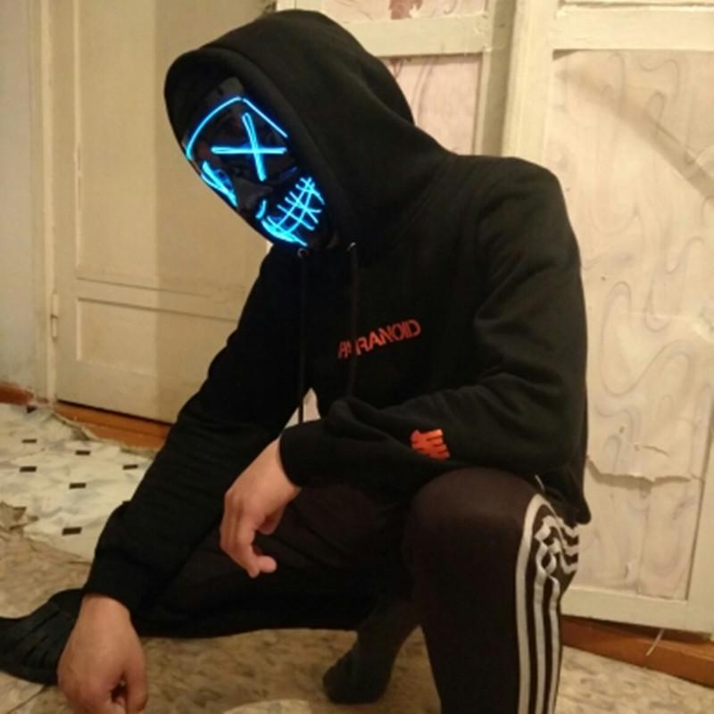 Halloween LED Party Neon Mask for men 75k urban fashion