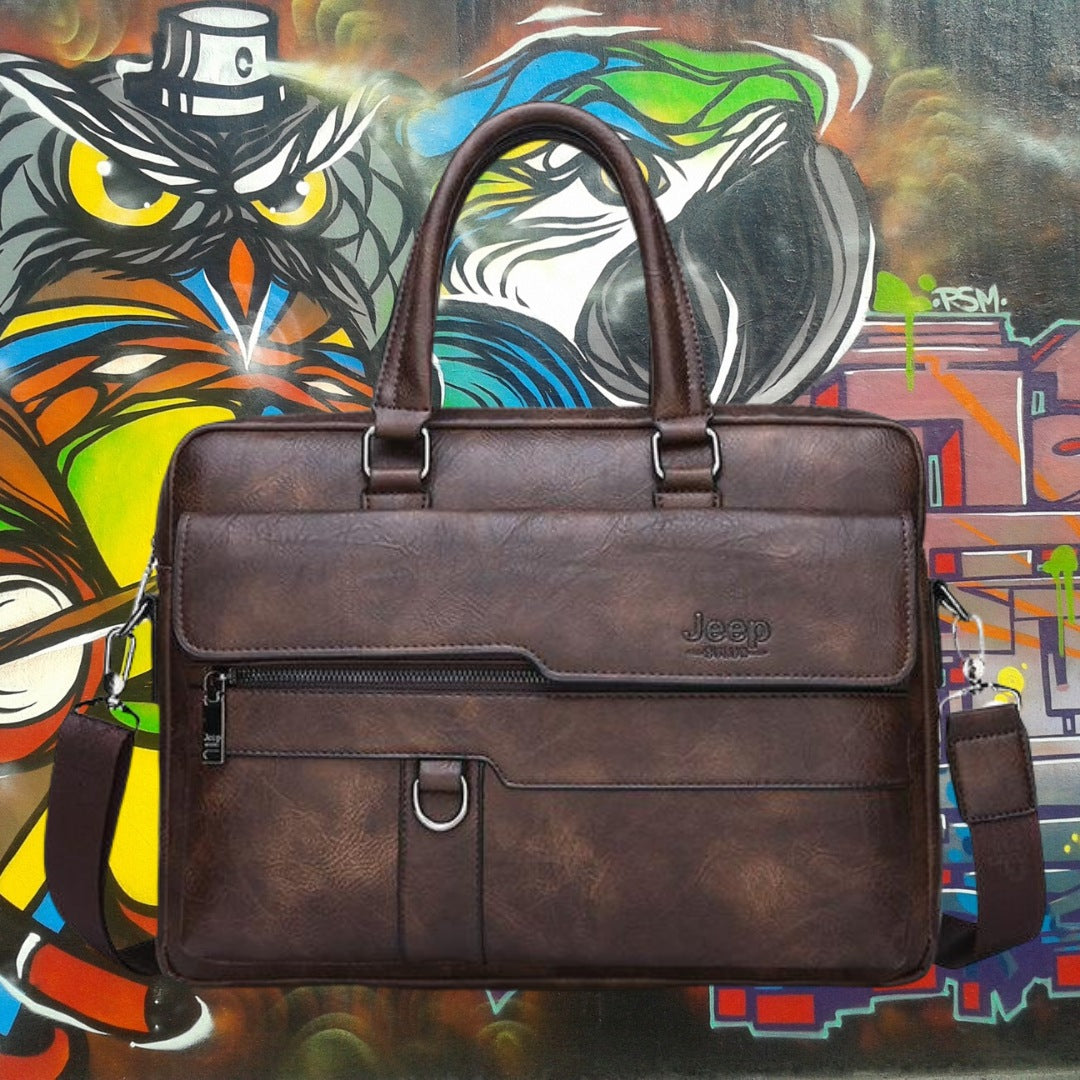 Jeep Leather Messenger Bagfor men 75k urban fashion