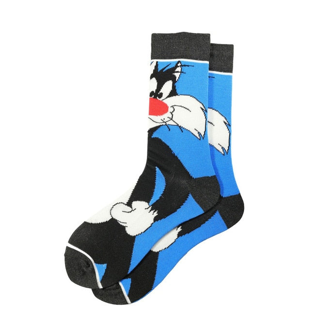 Funny and Colorful Socks with Looney Tunes Characters