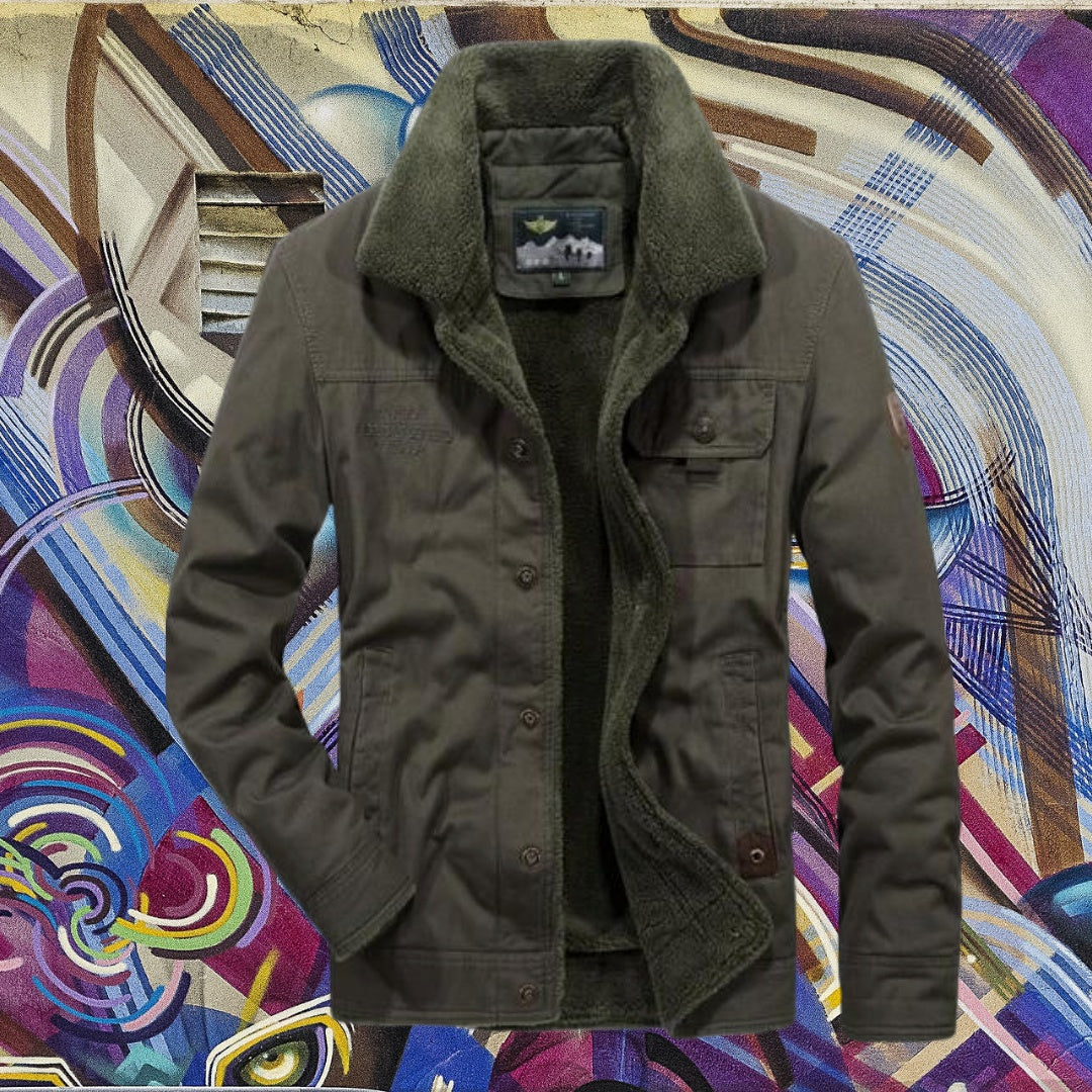 Thick Military Down Jacket For Men