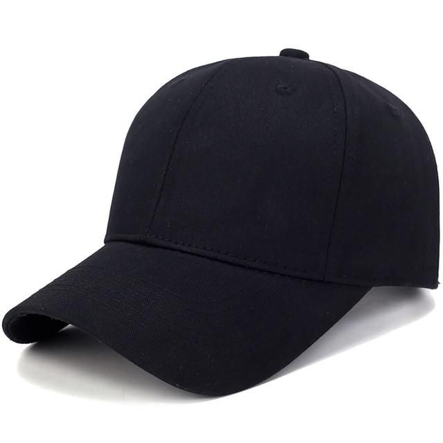 Unisex Solid Colored Baseball Caps