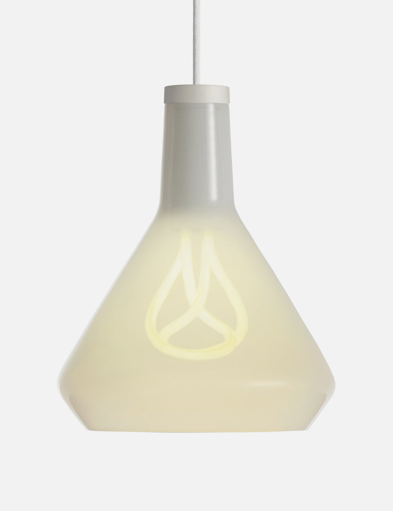 Drop Top Lamp Shade A in White (Glass Only)
