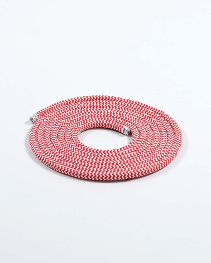 Fabric Cable Red & White