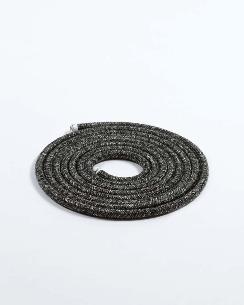 Fabric Cable Dark Linen