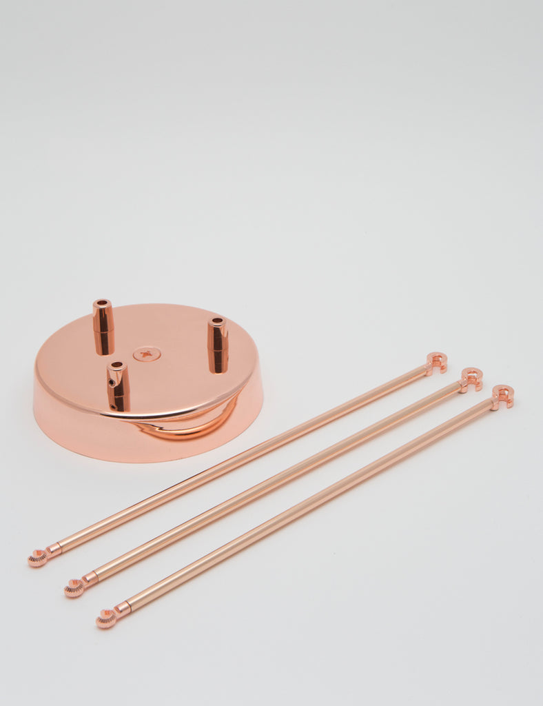 3 Way Chandelier Kit Copper