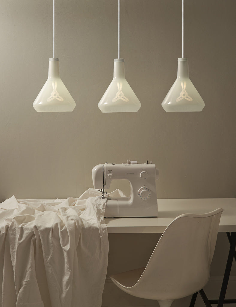 Drop Top Lamp Shade A Set with Plumen 001 Bulb