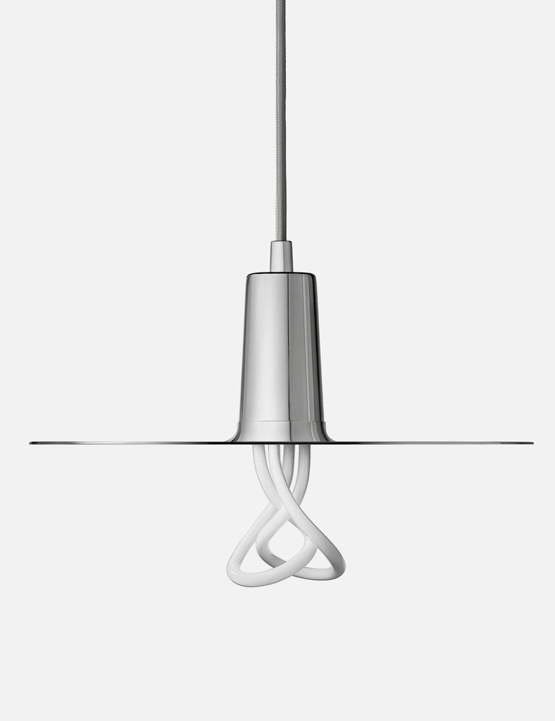 Drop Hat Lamp Shade - Chrome