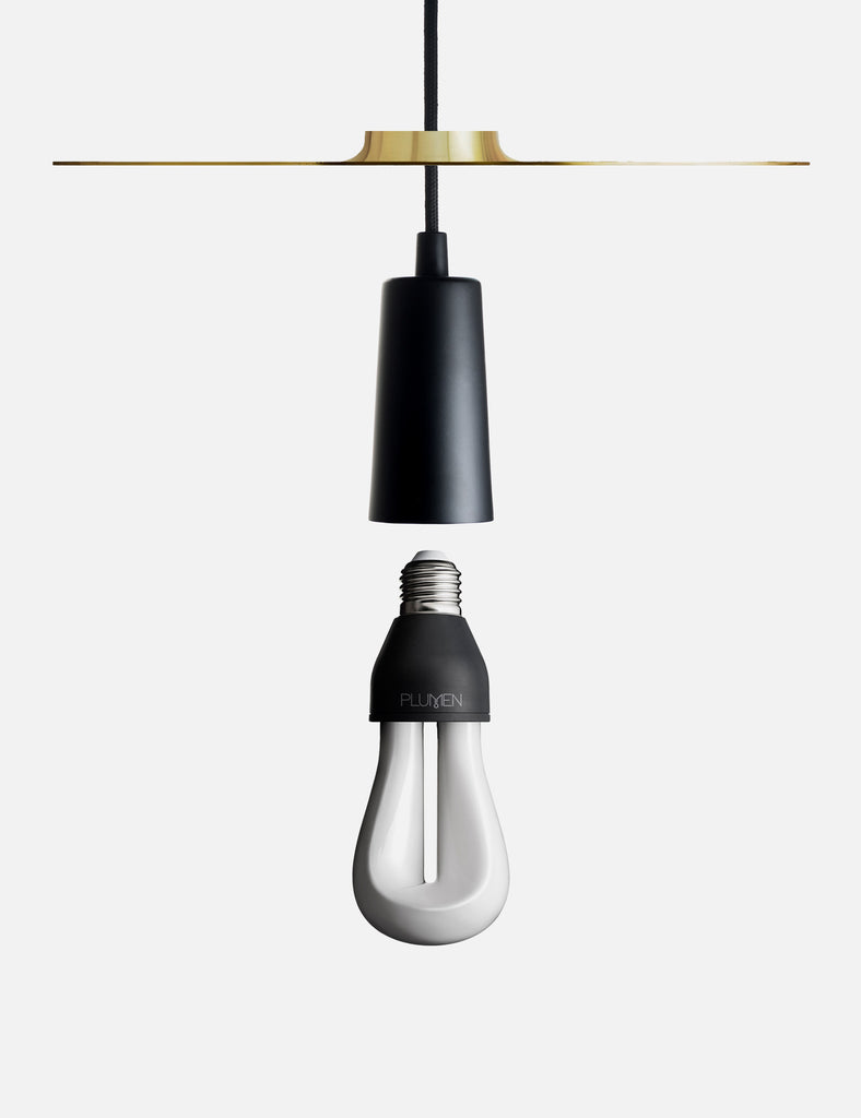 Drop Hat Lamp Shade Set with Plumen 002 LED Bulb
