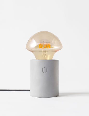 LUMI Grey Concrete Table Lamp By Unrefined