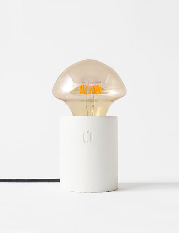 LUMI White Concrete Table Lamp By Unrefined