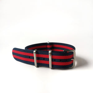 Blue with red stripes - Premium Nato Strap