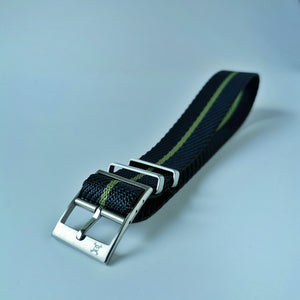 Nautical with Green stripes - Woven strap
