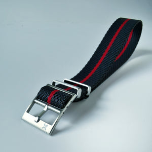 Nautical with Red stripe - Woven strap
