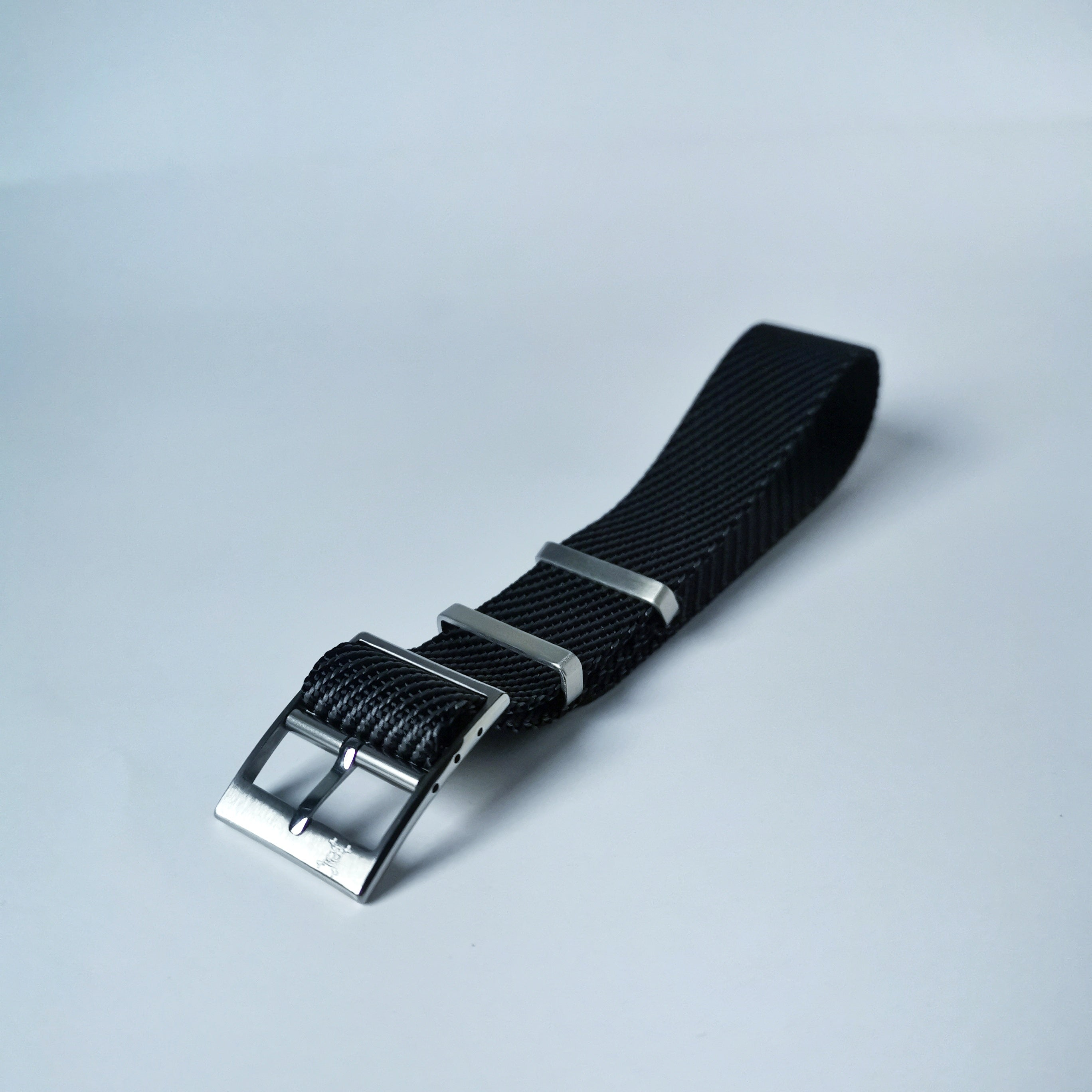 Salt and Pepper, Black w/ Grey - Woven strap