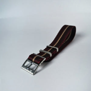 Crimson with beige stripes - Woven strap