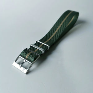 Teal with Beige Stripe - Woven strap