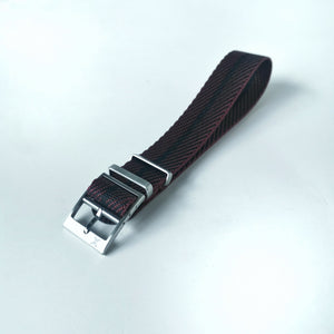 Crimson with Black Stripes - Woven strap