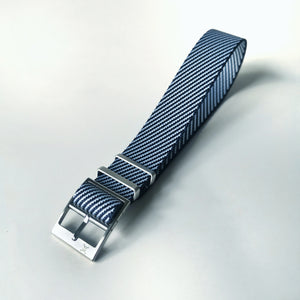Blue and White - Woven strap