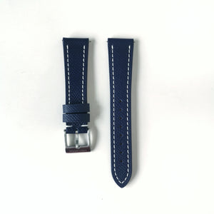 Blue - Full Grained Epsom Leather Strap